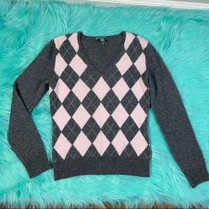 Lucurious 100% Cashmere Apt. 9 Argyle Sweater